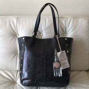 NWT Tommy Bahama Tote El Roble Black Leather